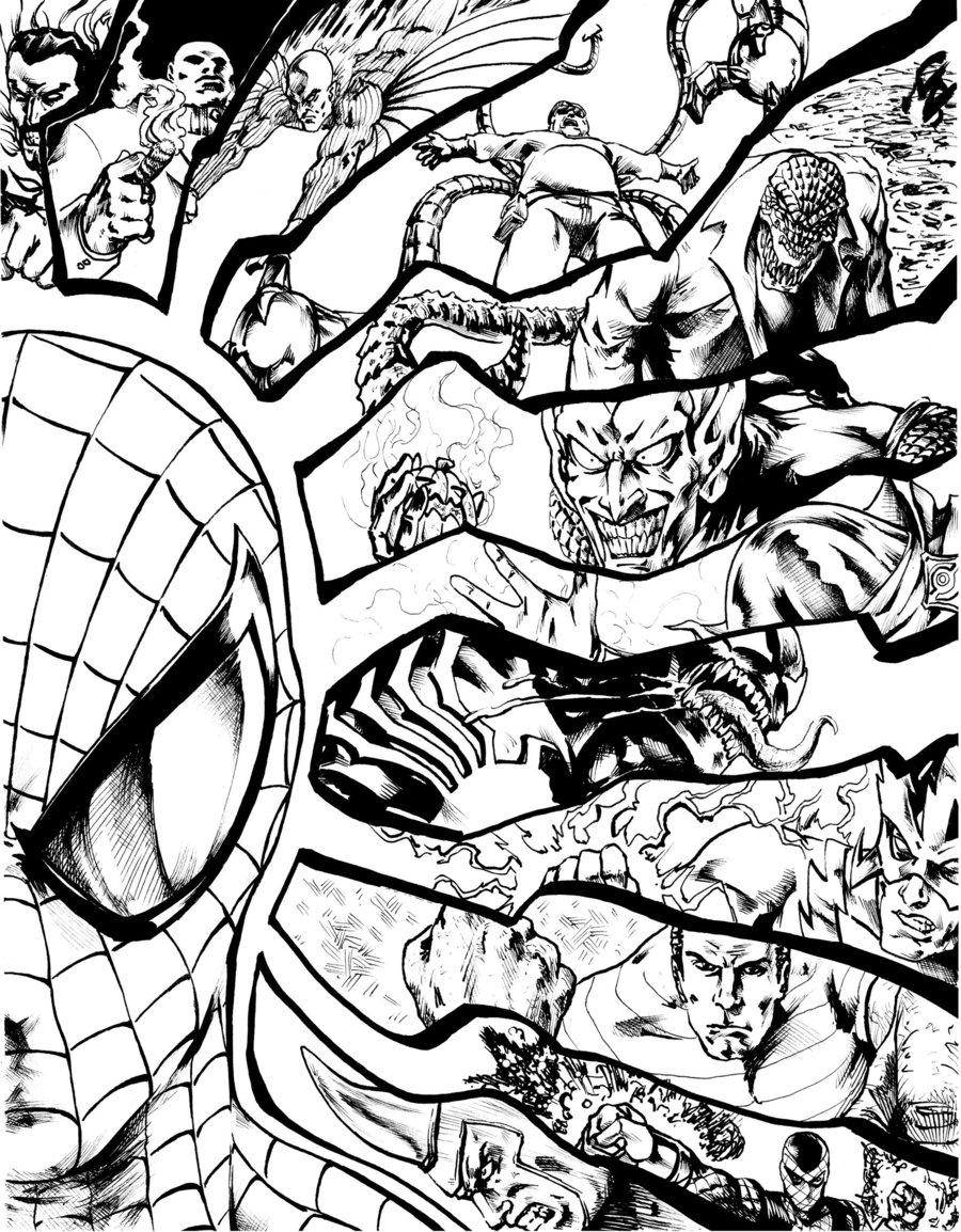 Encantador Spiderman Para Colorear Libros Ilustración - Dibujos Para ...