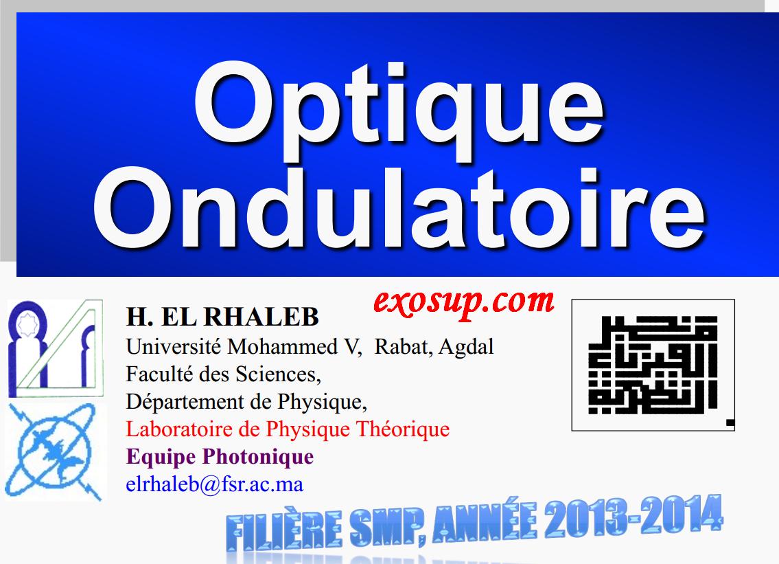 td d'optique ondulatoire fsr smp s4