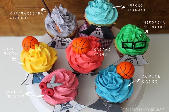 Kuroko no Basket Cupcakes