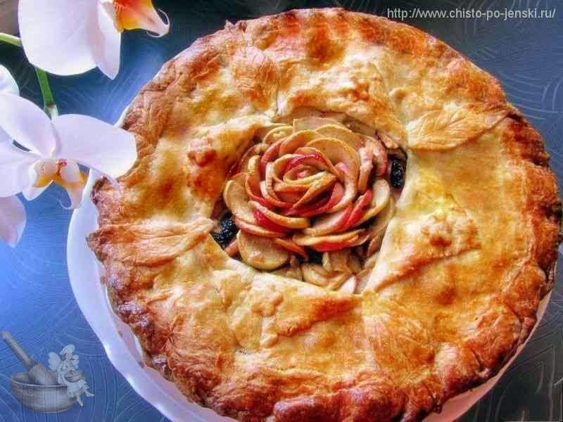 """Яблочный пирог """"Роза в конверте"""""""
