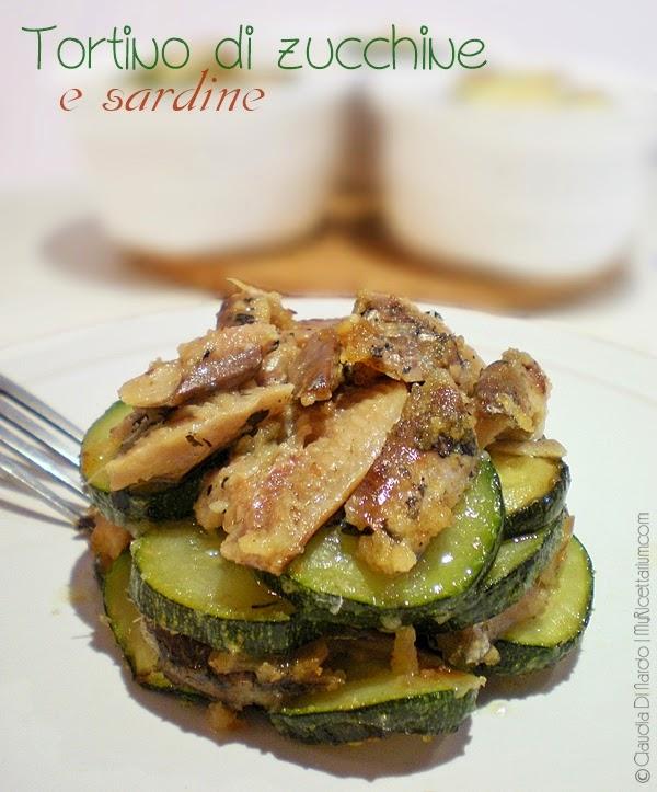 Tortino di zucchine e sardine