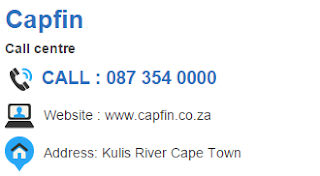 Capfin Customer Service Number South Africa