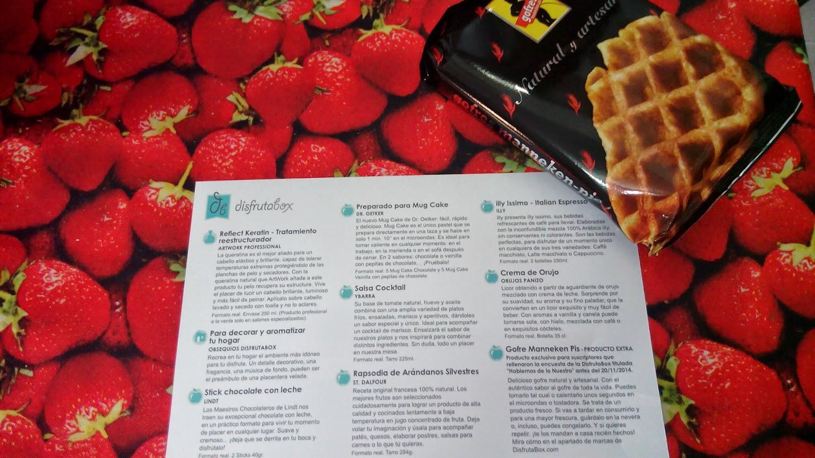 caja disfrutabox de noviembre con un monton de cosas alimentacion deliciosas oferta 9,99 cupon descuento