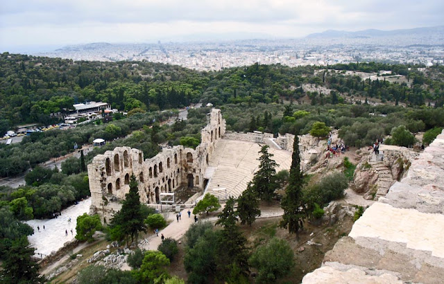 Odeon of Herdoes Atticus Auditorium in Athens in Greece