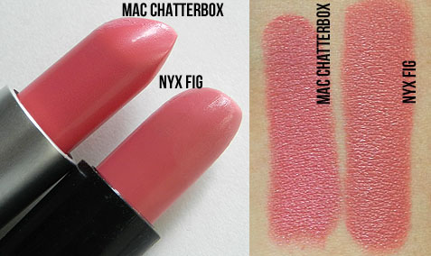 mac chatterbox lipstick nyx dupe