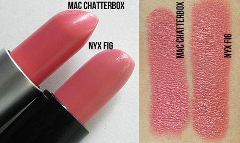 mac chatterbox lipstick nyx dupe