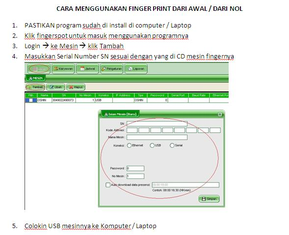 Tutorial Fingerprint Fingerspot