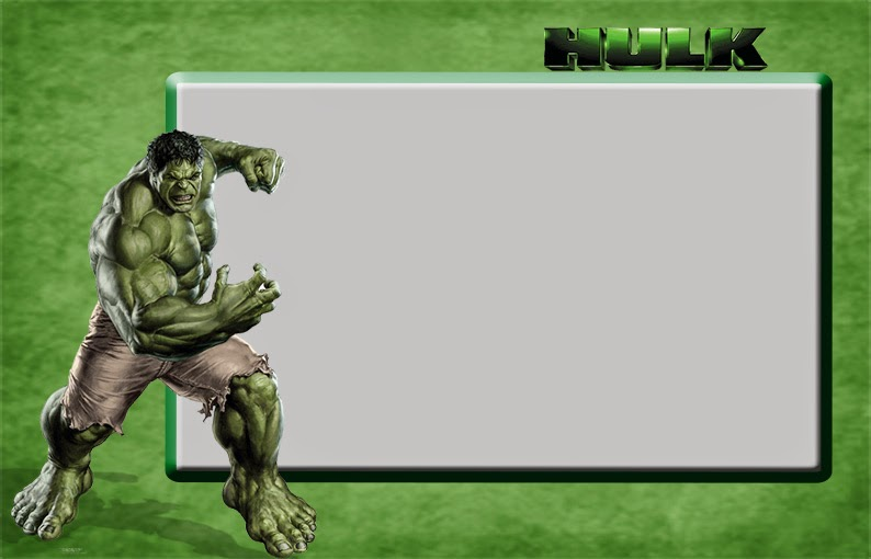 Hulk Free Printable Invitations Frames or Cards Oh My Fiesta – Hulk Party Invitations