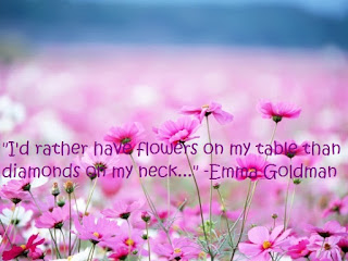 flowers-diamonds quotes. Emma Goldman
