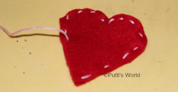 Kids Sewing Felt Heart  Valentine's Day Mother's Day Friendship Day Grandparents
