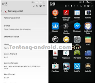 Custom Rom Xperia For Advan S5J+ Plus Terbaru