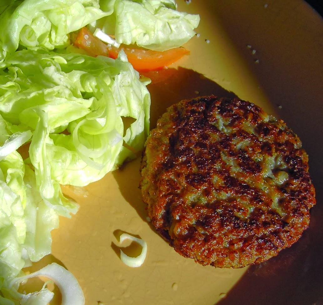 hamburguesa vegana de farro