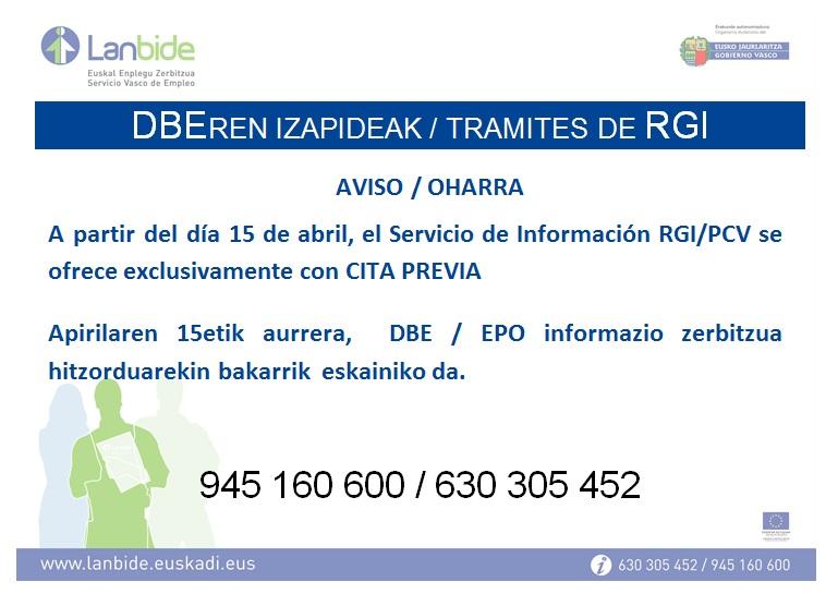 NOVEDAD TRAMITES DE RGI