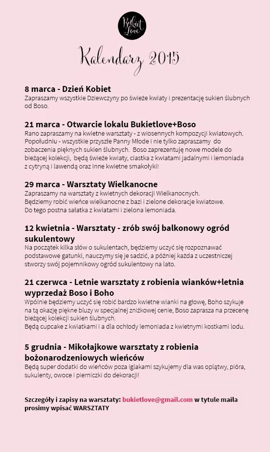ac344b09d6d75 Bukietlove kwiaty na ślub, bukiety ślubne, dekoracje wesel - Kraków :  Kalendarz Bukietlove 2015