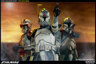 Sideshow Collectibles 1/6 Scale Star Wars Clone Wars Commander Wolffe Figure