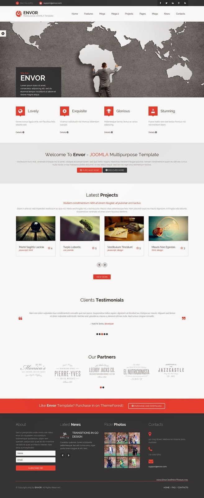 Best Multipurpose Joomla Template 2015