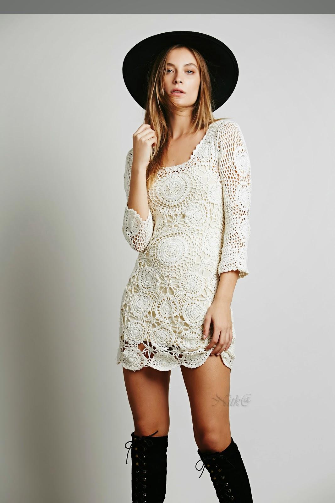 How To Spell Crochet : Vestido de Crochet:PaP Como fazer