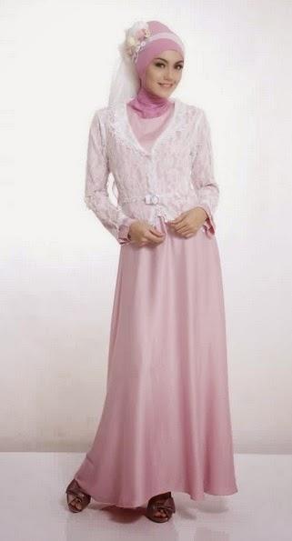 model baju pesta muslimah elegan