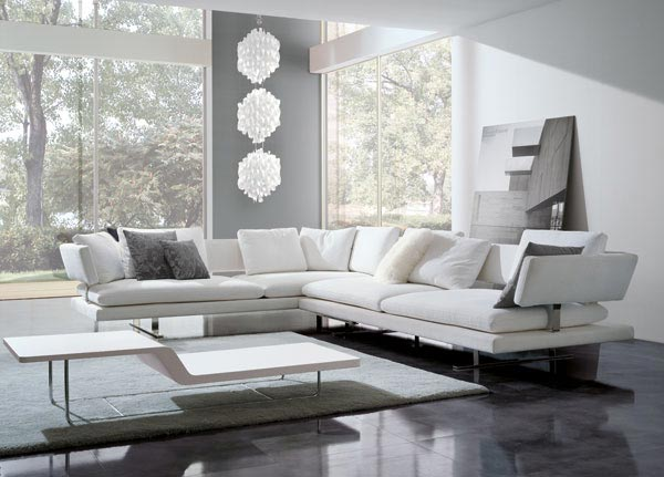 Salas modernas con elegantes muebles ideas para decorar for Salas modernas muebles