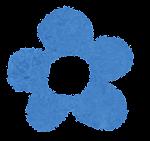 小さな花のイラスト「青」