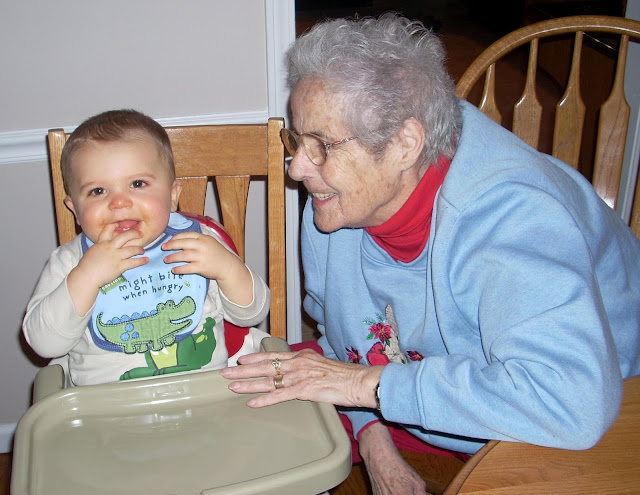 Lois Gertsch with great-grandchild