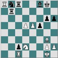 Partida de ajedrez Ulvestad – Frank, 1971, despues de 32. fxe5