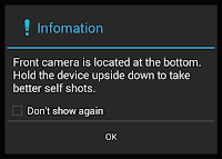 front-facing camera warning