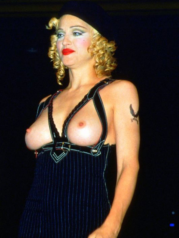 Madonna Topless Runway Pics From Early S