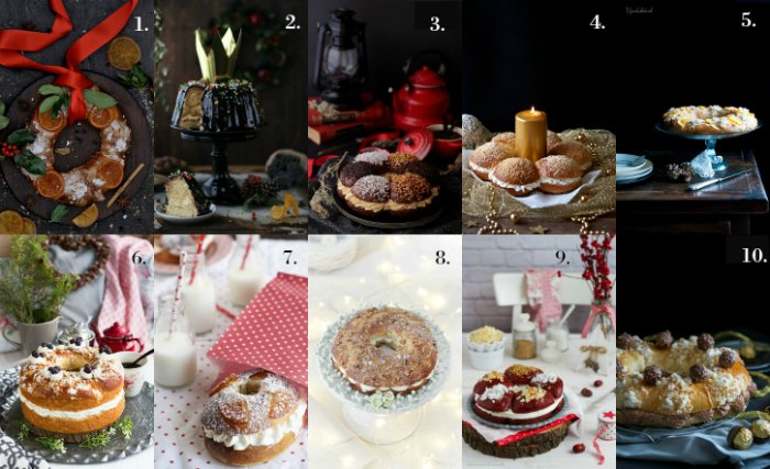 Diez recetas diferentes de Roscón de Reyes