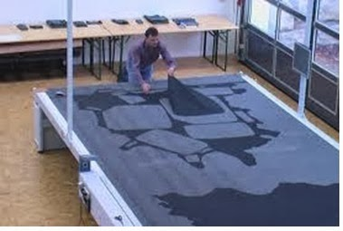 Spreading layering the fabrics