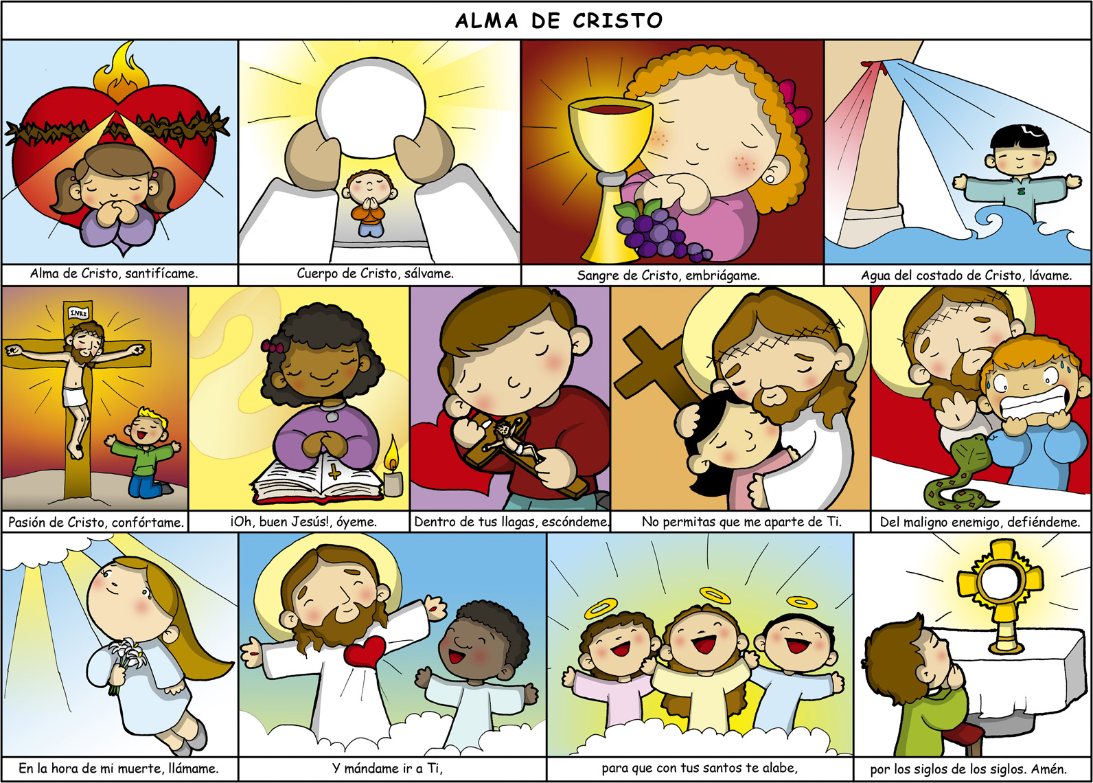 PARA COLOREAR: Alma de Cristo para colorear