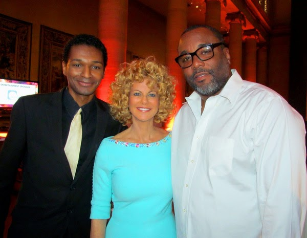 L to R - Robert X. Golphin, Sharon Pinkenson, Lee Daniels