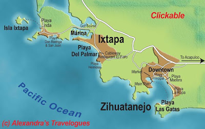Map of Ixtapa City Area
