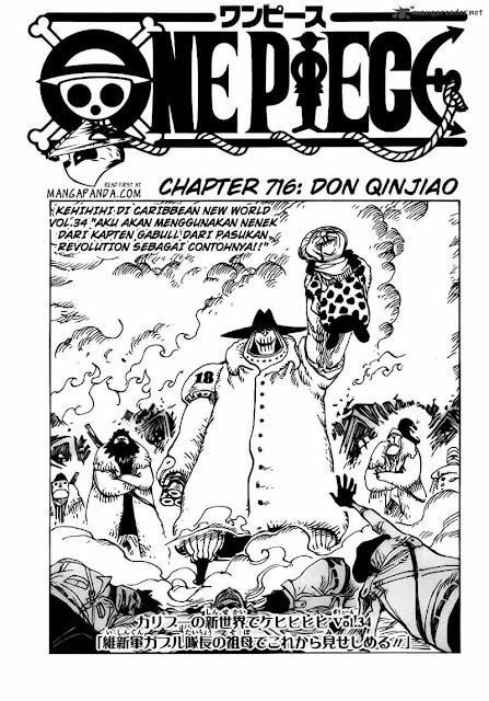 """Download Komik One Piece Chapter 716 """"Don Qinjiao"""" Bahasa Indonesia"""