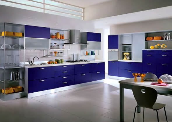 Modern kitchen interior design model home interiors for Homey kitchen designs
