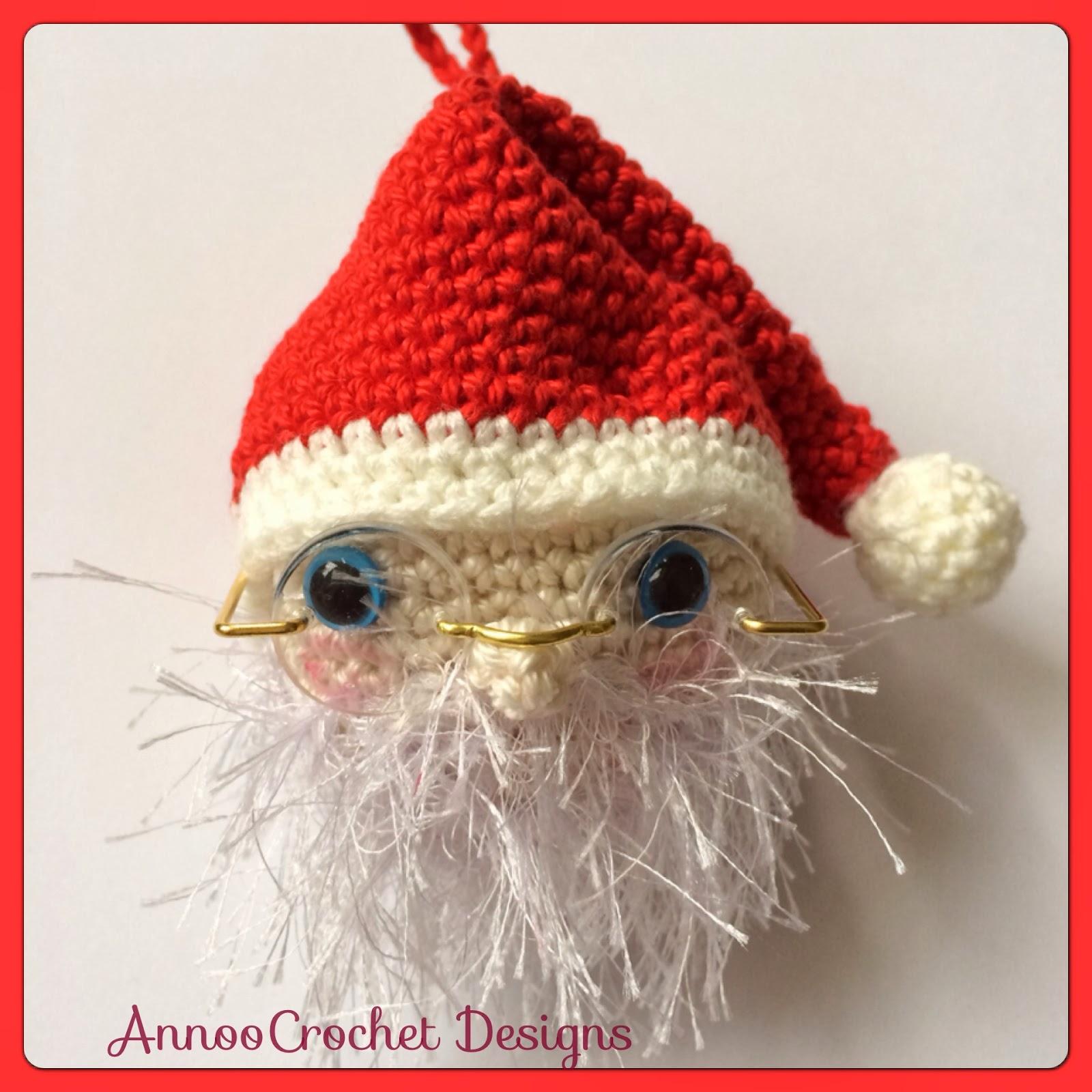 Annoos Crochet World Ho Ho Ho Santa Ornament Free Pattern