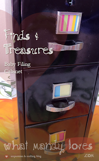 Finds & Treasures: Baby Filing Cabinet (June's Office Theme) via www.whatmandyloves.com