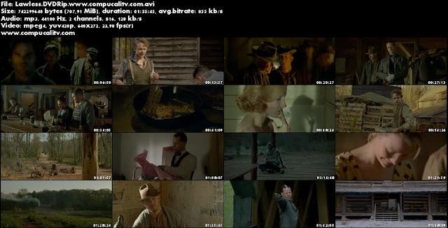 Lawless DVDRip Español Latino Película 2012