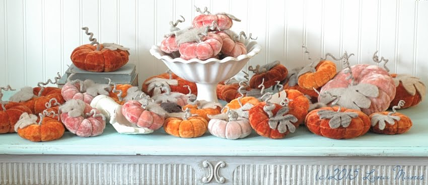 Vintage Velvet Pumpkins