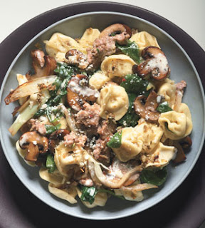 Recipe: Tortellini with Italian sausage, fennel and mushrooms