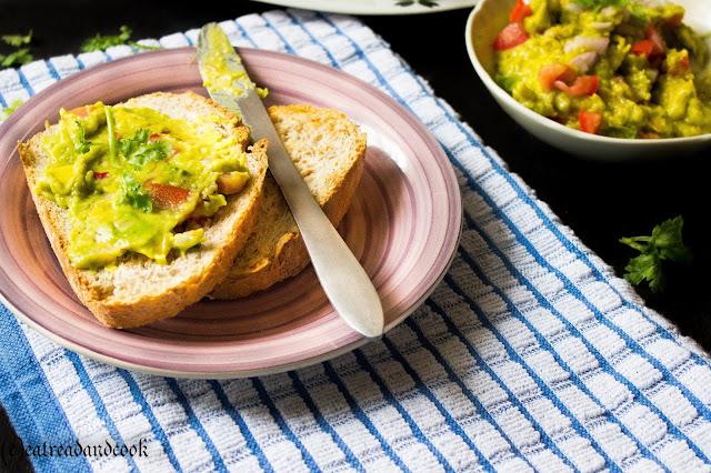healthy mexican style avocado spread recipe or guacamole recipe
