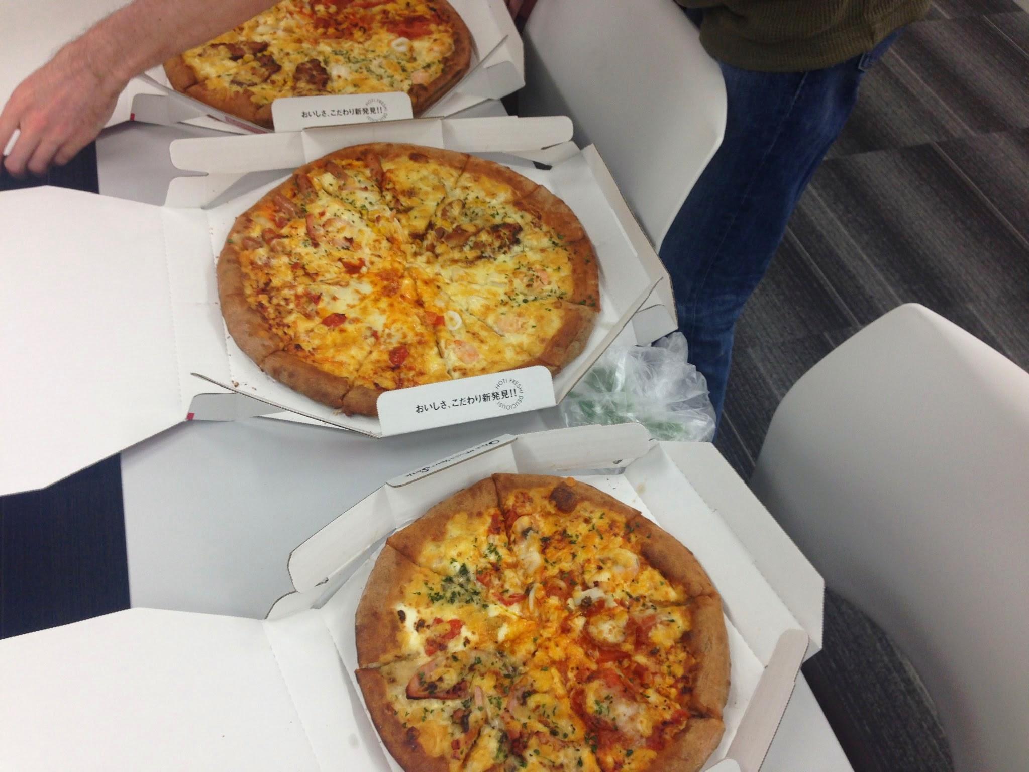 最後はみんなでピザ!