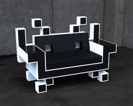 Genial Space Invaders Armchair.