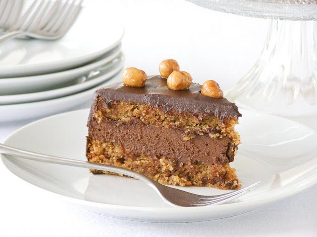 Vegan Mocha Frangelico Mousse Torte