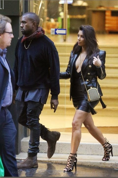 Kim Kardashian Socialite strolled with her husband in Melbourne