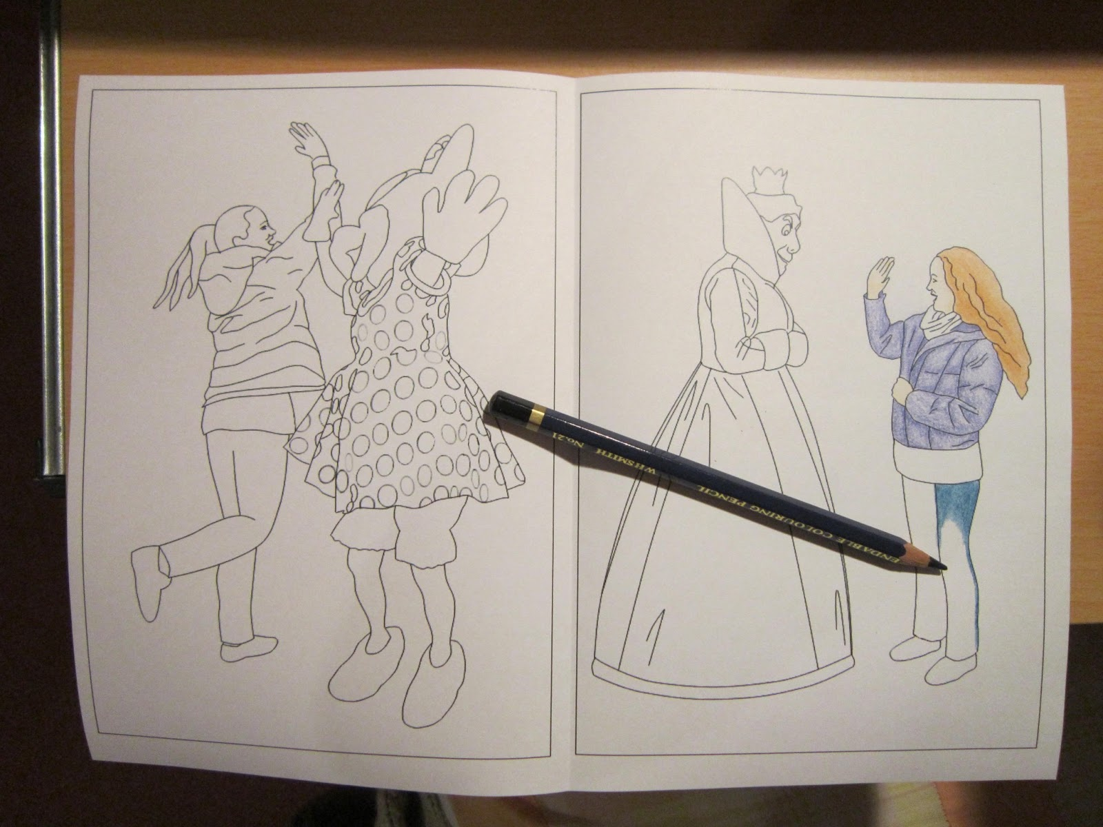 So I Present To You The High 5 Disney Character Colouring Pages Its A Working Title