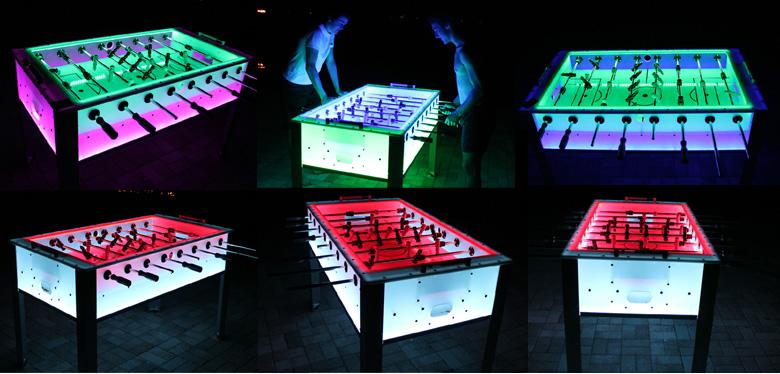 Foosball Tables You Wish You Had FOOTY FAIR - Foosball table light