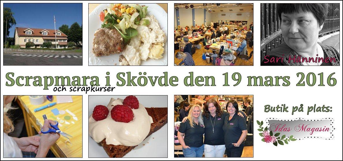 Scrapbook-mara, 19 Mars 2016 Skövde