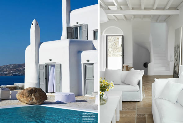 luxurious places to stay in Greece -- Mykonos Villa Crew