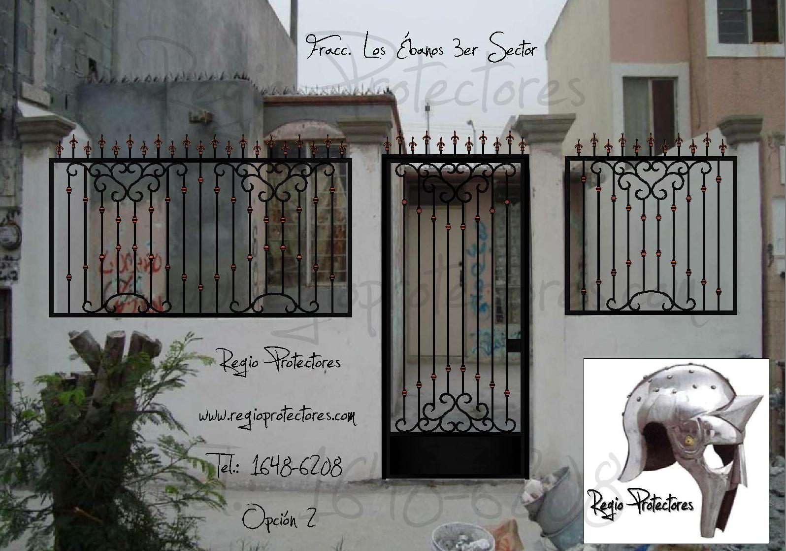 Pin rejas hierro on pinterest - Rejas hierro forjado ...